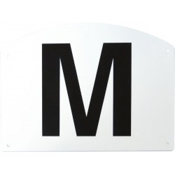 Set of 12 arena letters on plastic support