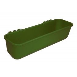 Mangeoire longue à suspendre 42l 100cm plastique verte Kerbl