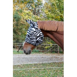 Fly Mask Zebra with ear protection