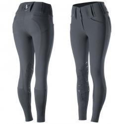 Horze Desiree Women's Knee Patch Breeches Dark blue / silver