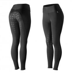Pantalon-collant d'équitation fond peau silicone Horze Juliet Noir