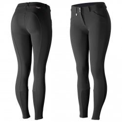 Horze Grand Prix Women's Silicone Knee Patch Breeches Black
