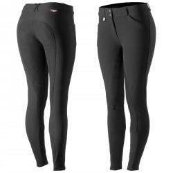 Horze Grand Prix Women's Leather Full-Seat Breeches Black