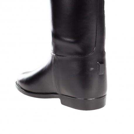 Bottes de cavalier en caoutchouc Horze femme Noir Mollet standard 38