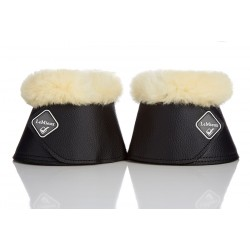 LeMieux WrapRound Lambskin Over Reach Boots Black / natural