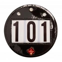 Hamag LeMieux Patent Diamante Bridle Number Holder (Round)