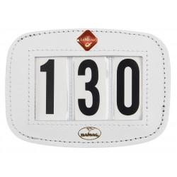Porte-numéro pour tapis de selle Hamag LeMieux Blanc