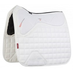 Tapis LeMieux X-Grip Twin Sided Dressage Square Blanc