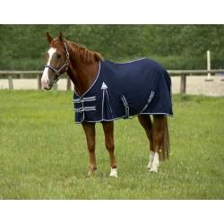Equi-Theme Cotton summer sheet Navy / light blue
