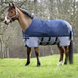 "EQUI-THÈME ""TYREX 600 D"" Turnout rug with belly belt"