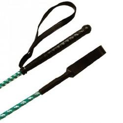 Fusta Whip & Go de fibra de vidrio recubierta de nylon trenzado