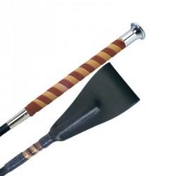 Fleck Nubuck handle whip, short