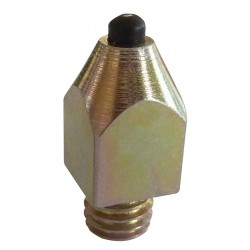 Bullet shaped tungsten studs