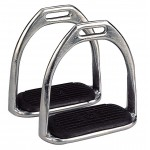 Open bottom stirrups, nickel plated