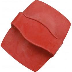 Étrille rectangle gros picots Rouge