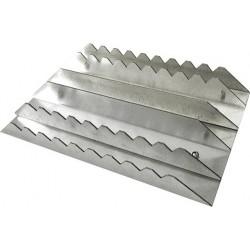 Almohaza rectangular de aluminio
