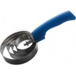 Étrille métallique ronde fluo pailleté Bleu