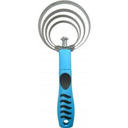 Étrille métallique ronde Hippo-Tonic Grip Bleu néon