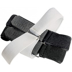 Elastic self-gripping straps fastening for bandages
