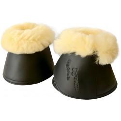 ERIC THOMAS Mouton véritable overreach boots, synthetic Black