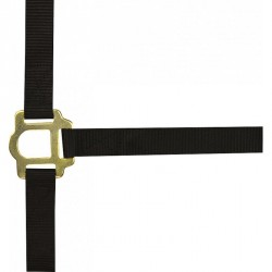 Double thickness nylon headcollar with buckles Black