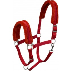 Mouton Synthétique headcollar Red