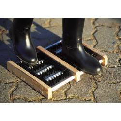 Wooden boot cleaner