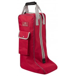 Equi-Theme Boots bag Red / light grey