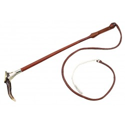 FLECK Hunting whip real horn handle