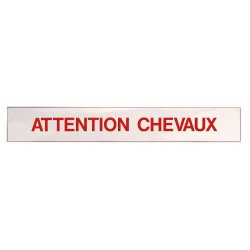Sticker Attention Chevaux