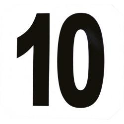 Set de 12 numéros d'obstacles autocollants