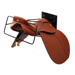 Anti-theft saddle rack