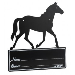 Horse Silhouette stall plaque