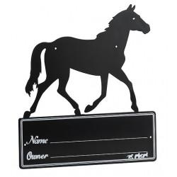 """Placa de box """"Silhouette de cheval"""""""