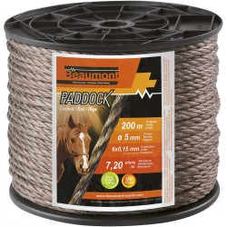 Paddock 5 mm twisted rope