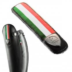 Tira decorada desmontable en cuero con bandera italia