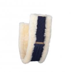 Fouureau de sangle mixte mouton Horze Harleigh Bleu marine / écru