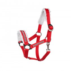 Horze Christmas Halter Red