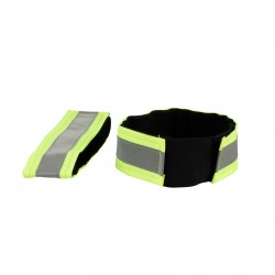 Horze Reflective Arm Bands Yellow