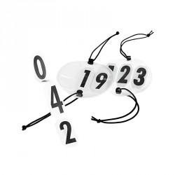 Numéros de course Horze à 3 chiffres Noir / blanc