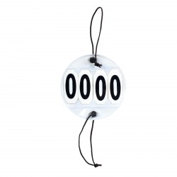 Numéros de départ à 4 chiffres Horze Noir / blanc