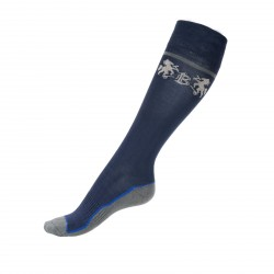 B Vertigo Iben High Riding Socks Navy blue