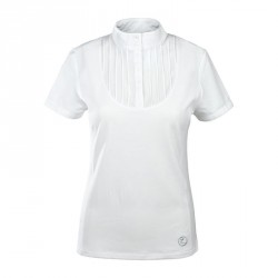 Horze Women's Pleated-front Technical Shirt White
