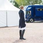 Frac de dressage softshell B Vertigo Serina femme Bleu marine