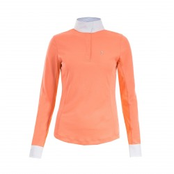 Horze Blaire Women's Long-Sleeved Functional Show Shirt Pink sauce