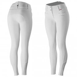 B Vertigo Tiffany Women's Silicone Full Seat Breeches Shiny white