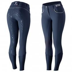 Pantalón con grip silicona Nordic Performance Horze mujer Peacoat azul oscuro