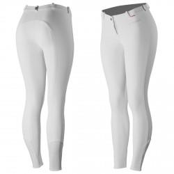 B Vertigo Lauren Women's Silicone Full Seat Breeches Shiny white