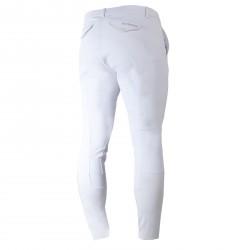 B Vertigo Sander Men's Leather Self-Patch Breeches Shiny white