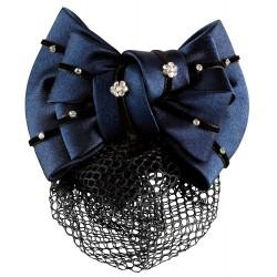 Satin hairclip with hairnet